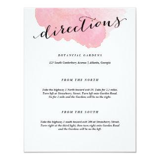 Watercolor Spotlight | Directions card