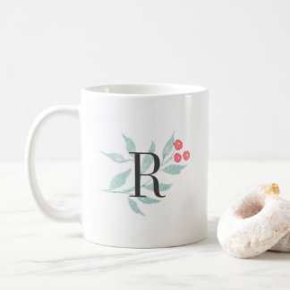 Watercolor Sprig Monogram Mug