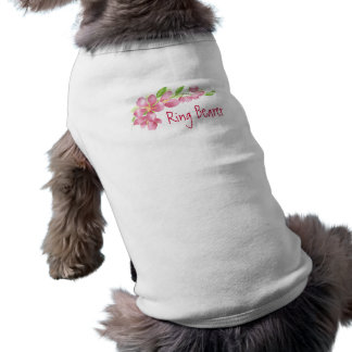 Watercolor Spring Cherry Blossom Floral Design Sleeveless Dog Shirt