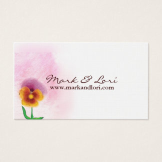 Watercolor Spring Flower Business Card