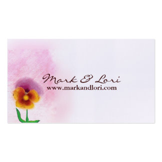 Watercolor Spring Flower Pack Of Standard Business Cards