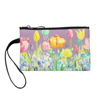 Watercolor Spring Flowers Bag