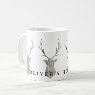 WATERCOLOR STAG COFFEE MUG