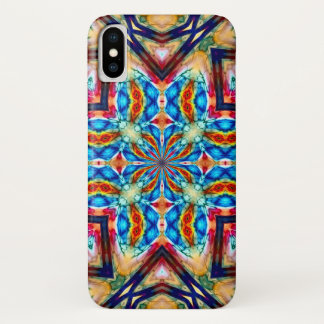 Watercolor Stained Glass Hologram Mandala Case