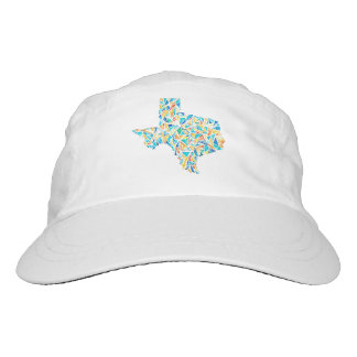Watercolor Stained Glass Texas Design Baseball Hat