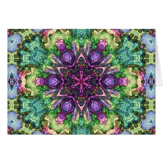 Watercolor Star Kaleidoscope Card