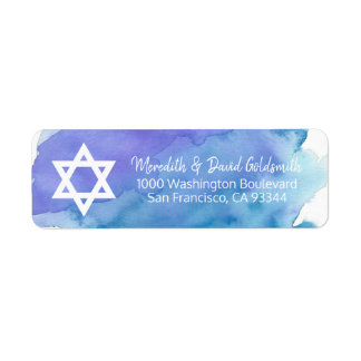 Watercolor Star of David Bar Mitzvah Return