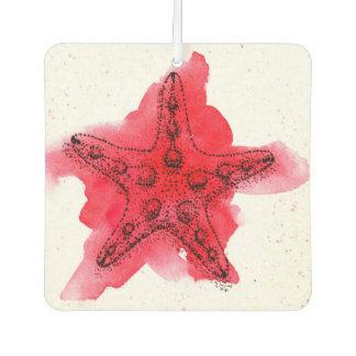 Watercolor Starfish Car Air Freshener