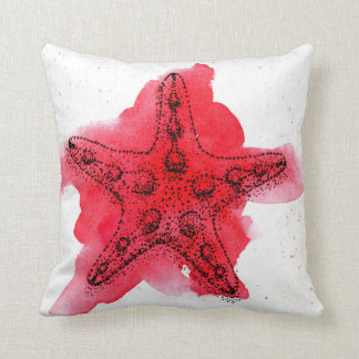 Watercolor Starfish Cushion