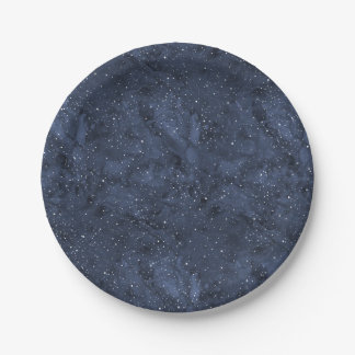 Watercolor Starry Skies Birthday 7 Inch Paper Plate
