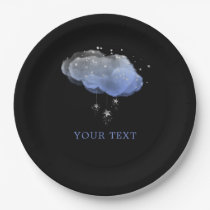 Watercolor Stars Night Sky Party Paper Plate