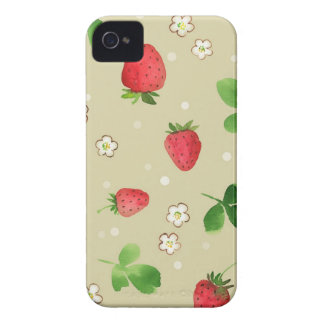 Watercolor strawberries pattern Case-Mate iPhone 4 case