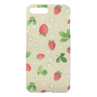 Watercolor strawberries pattern iPhone 8 plus/7 plus case
