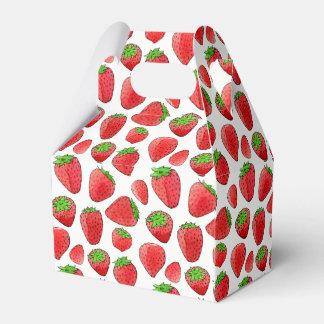 Watercolor Strawberry Favour Box