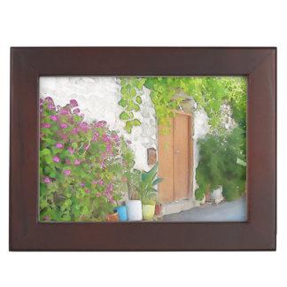 Watercolor street view keepsake box