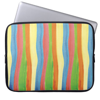 Watercolor Stripes Case Computer Sleeves