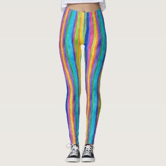 Watercolor Stripes Leggings