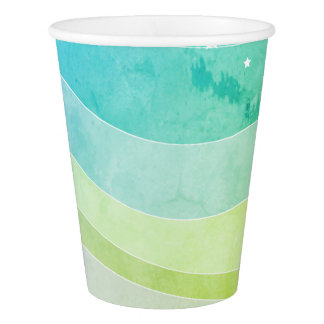 Watercolor Stripes Paper Cup