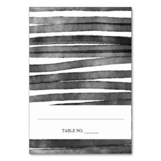 Watercolor Stripes | Place Cards *fold in half Table Card