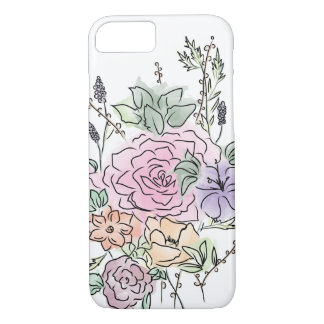 watercolor style floral design iPhone 8/7 case