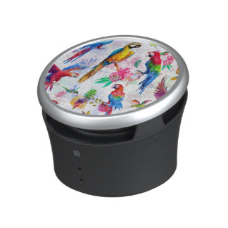 Watercolor Style Parrots Bluetooth Speaker