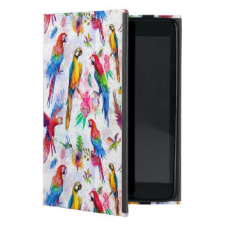 Watercolor Style Parrots Cover For iPad Mini