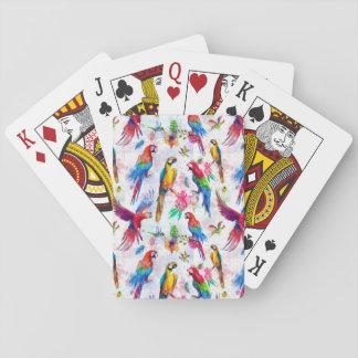 Watercolor Style Parrots Poker Deck
