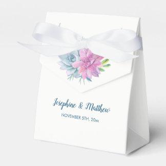 Watercolor Succulents Wedding Favour Box