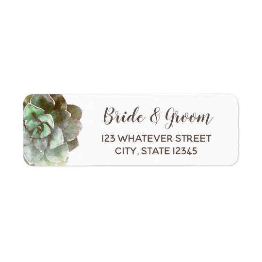Watercolor Succulents | Wedding Label
