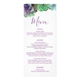 Watercolor Succulents | Wedding Menu
