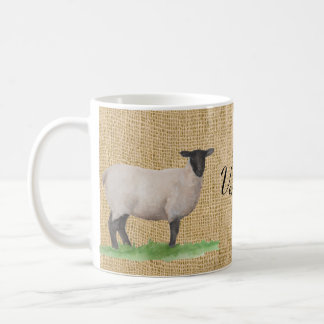 Watercolor Suffolk Sheep Coffee Mug