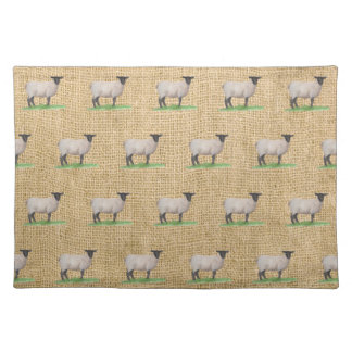 Watercolor Suffolk Sheep Placemat