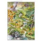 Watercolor Summer Scene Greeting Card