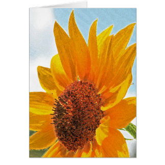 Watercolor sunflower card