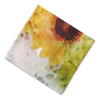 Watercolor Sunflowers Bandana