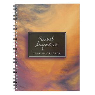 Watercolor Sunset Sky YOGA Meditation Instructor Notebook