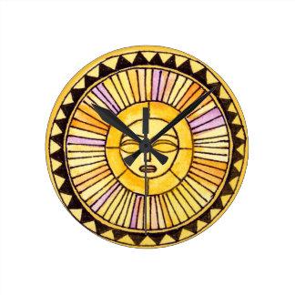 Watercolor & Sunshine Round Clock