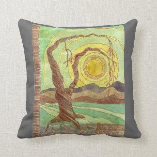 Watercolor Surreal Landscape Art Cushion