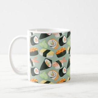 Watercolor Sushi Pattern Coffee Mug