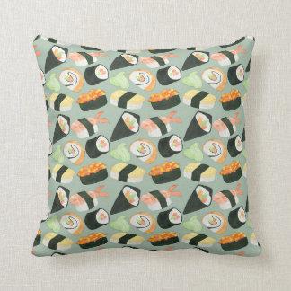 Watercolor Sushi Pattern Cushion