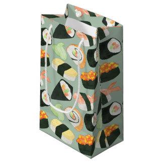 Watercolor Sushi Pattern Small Gift Bag