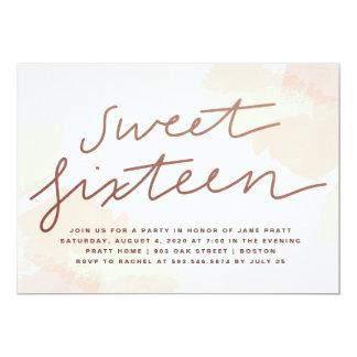 Watercolor Sweet Sixteen Invitation