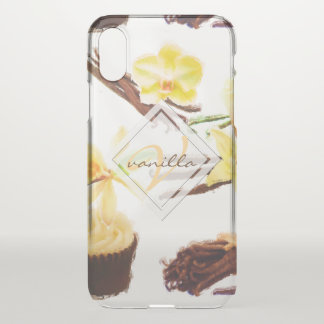 Watercolor Sweet Vanilla Orchid Monogram iPhone X Case