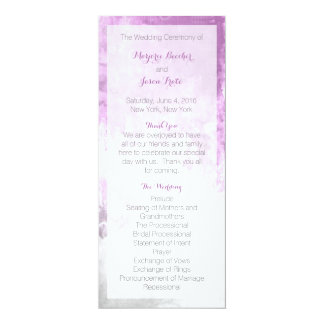 Watercolor Swirl Wedding Program Purple