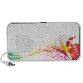 Watercolor Swirls Travelling Speakers