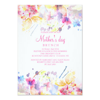 Watercolor Symphony Mother's Day Invitation