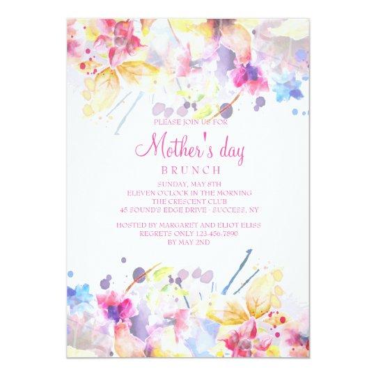 watercolor symphony mother s day invitation zazzle co uk