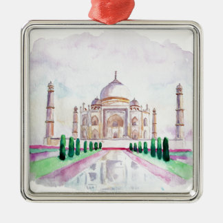 Watercolor Taj Mahal Christmas Ornament