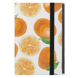 Watercolor tangerines iPad mini cover