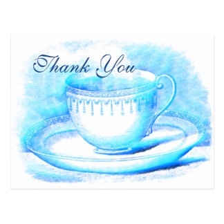 Watercolor Teacup Thank You Cards Post Card